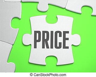 precio, -, rompecabezas, con, perdido, pieces.