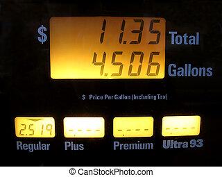 precios, bomba, gas