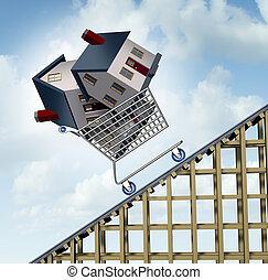 precios, casa, levantamiento