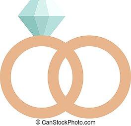 precioso, anillo, con, piedra, coloreado, gemas, aislado, blanco, plano de fondo