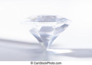 precioso, diamante, isolado, branco, fundo
