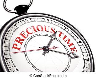 precioso, relógio, conceito, tempo