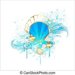 precious blue seashell