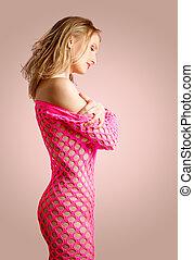 precious - lovely girl in fishnet dress
