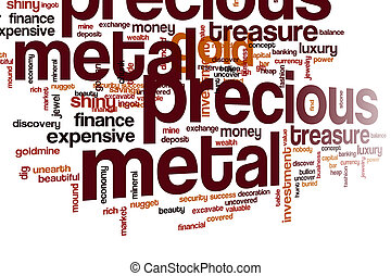 Precious metal word cloud