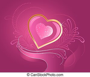 precious pink heart