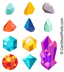 Precious Stones Collection Vector Illustration