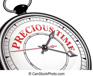 precious time concept clock isolated on white background