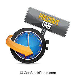 precious time time to upgrade watch illustration