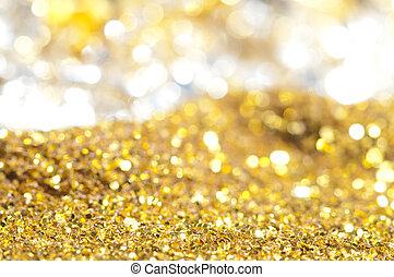 Precious treasure background. Gems and Gold