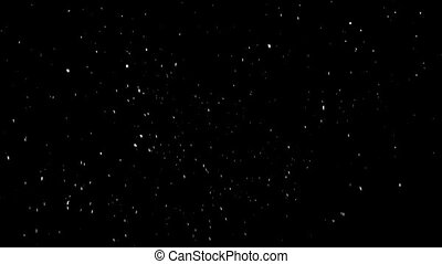 precipitation in the form of snow on a black background