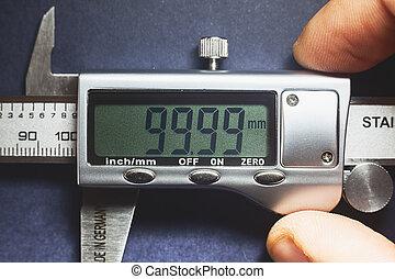Precise - Details of modern measuring tool, digital display...