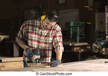 Precise treating the wood