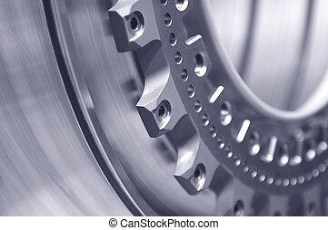 precision background - metal part close-up representing ...