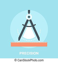 Precision - Vector illustration of precision flat design...
