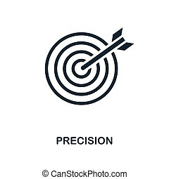 Precision icon. Monochrome style design from business icon collection. UI. Pixel perfect simple pictogram precision icon. Web design, apps, software, print usage.