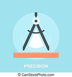 Vector illustration of precision flat design concept.