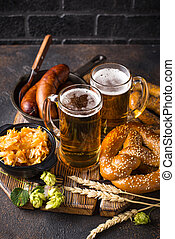 preclík, strava, bavorák, pivo