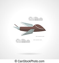 Predator drone flat simple vector icon
