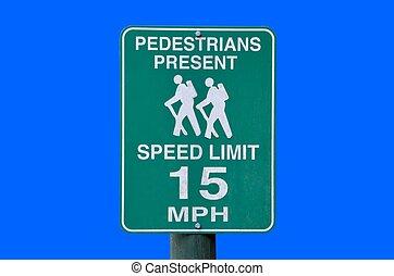Predestrians Warning sign