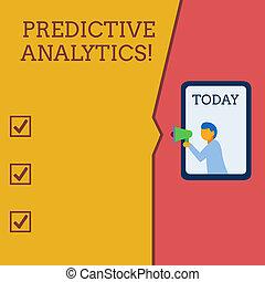 predictive, bubble., foto, identificar, escrita, nota,...