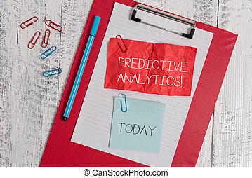 predictive, conceito, clip, texto, papel pegajoso,...