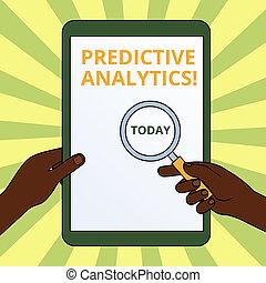predictive, conceito, comutado, texto, identificar, toque,...