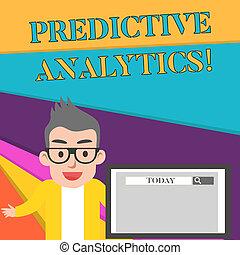 predictive, conceito, texto, identificar, monitor, escrita,...