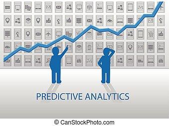 predictive, concepto, analytics
