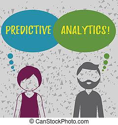 predictive, concepto, palabra, empresa / negocio, texto, analytics., escritura, analysis., estadístico, pronóstico, perforanalysisce, método