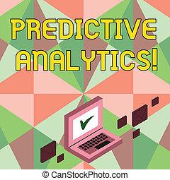 predictive, empresa / negocio, foto, actuación, analytics., escritura, nota, analysis., estadístico, showcasing, pronóstico, perforanalysisce, método