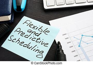 predictive, promemoria, programmazione, scritto, stick., flessibile