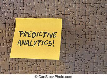 predictive, quadrado, foto, papel, identificar, negócio,...