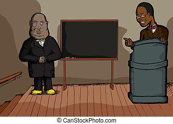 prediger, moslem, schwarz