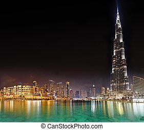 predios, 23, outubro, khalifa, dubai, -, burj, centro cidade, 23:, alto, uae, mundo, 2012