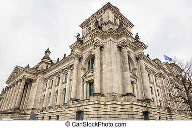 predios, alemão, alemanha, berlim, reichstag, parlamento