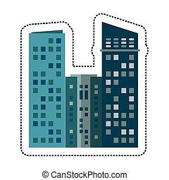 predios, arquitetura, modernos, cityscape