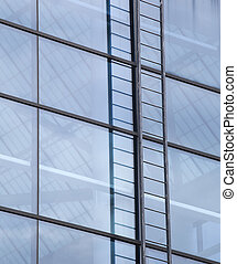 predios, azul, escada, janelas, contemporâneo