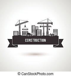 predios, cartaz, construção
