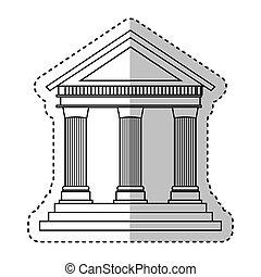 predios, colunas roman, ícone