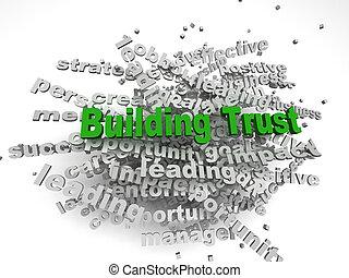 predios, conceito, palavra, imagen, costas, tag, branca, confiança, nuvem, 3d