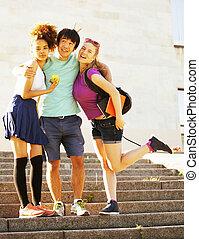 predios, cute, grupo, huggings, universidade, livros, teenages
