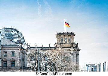 predios, edifício, histórico, alemanha, berlim, reichstag