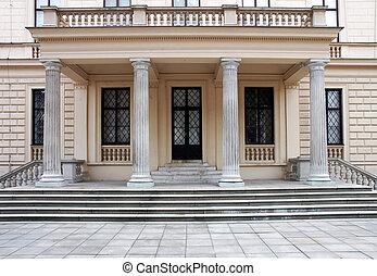 predios, entrada, passos, colunas, histórico