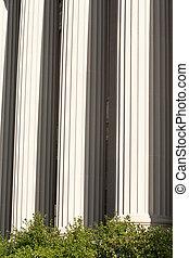 predios, eua, escritório, c.c. washington, mármore, colunas