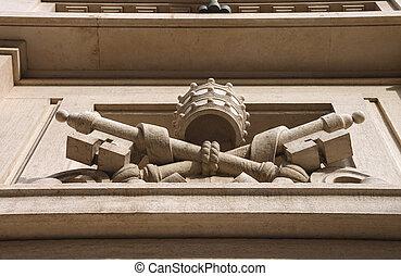 predios, Itália, parede, agasalho, Roma, braços, Vaticano