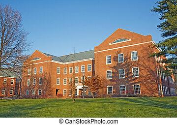 predios, ligado, um, cidade faculdade universitária, em,...