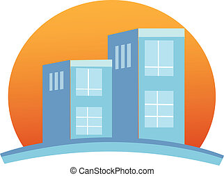 predios, logotipo, apartamentos