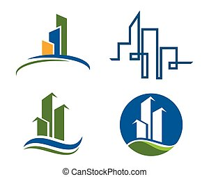 predios, logotipo, propriedade