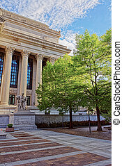 predios, nacional,  Washington,  DC, arquivos, vista